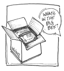 """What's in the big box?"""